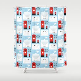 Happy Mail - Kawaii Post Shower Curtain