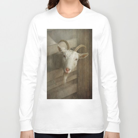 The curious goat Long Sleeve T-shirt