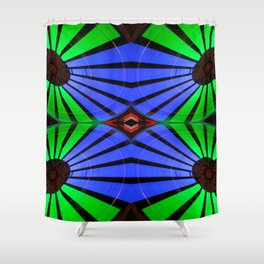 Green Blue Red Carnival Ride Shower Curtain
