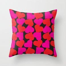 queen of hearts II Throw Pillow