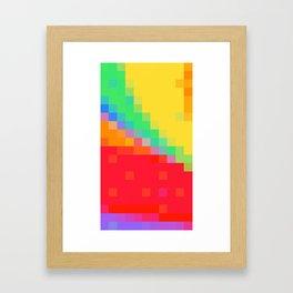 ABSTRACT PIXELS #0018 Framed Art Print