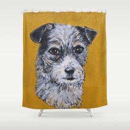 Terrier Mix Dog Portrait Shower Curtain