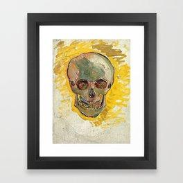 Vincent Van Gogh Skull Framed Art Print