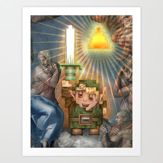 IRL Zelda Link Art Print