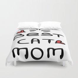 Best cat mom Duvet Cover