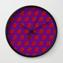 Ladybug Pattern_F Wall Clock