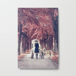 AUTUMN DOGS Metal Print