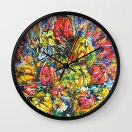 Flower Clock (2016). Wall Clock