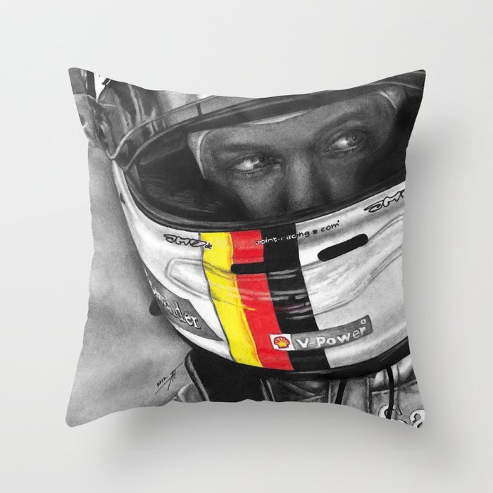 Sebastian Vettel Throw Pillow