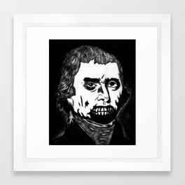 03. Zombie Thomas Jefferson  Framed Art Print
