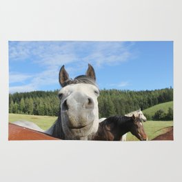 Horse Smile Photography Print Rug