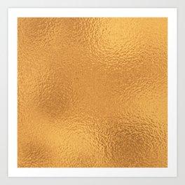 Simply Metallic in Bronze Art Print