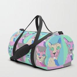 Pastel Hairless Cats Duffle Bag