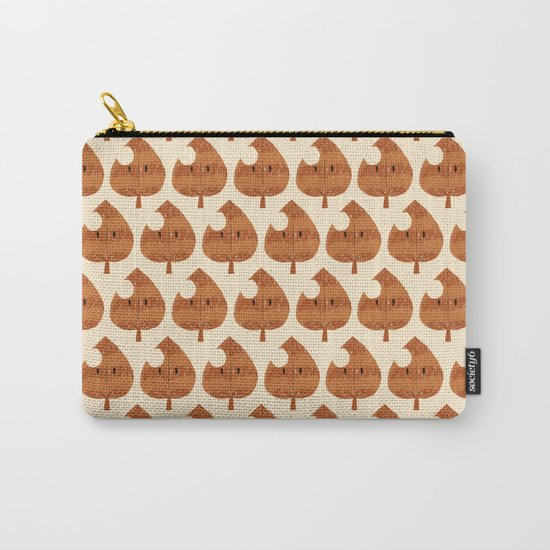 raccoon leaf pattern Carry-All Pouch