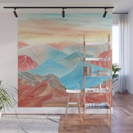 Lines in the mountains XX Wall Mural