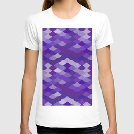 Ultra Violet wave, abstract simple background with japanese seigaiha circle pattern T-shirt