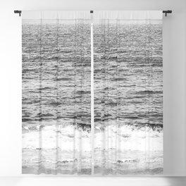 Black & White Ocean Wave Photography Blackout Curtain