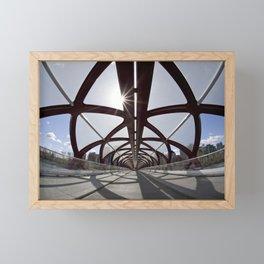 Calgary Peace Bridge; great Architecture Framed Mini Art Print