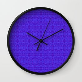 royal blue damask Wall Clock