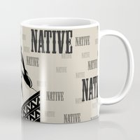 native american Mugs featuring Native by memo_alatouly