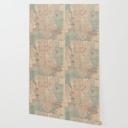 Vintage Map of Boston MA (1882) Wallpaper