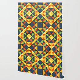 background geometric color plaid Wallpaper