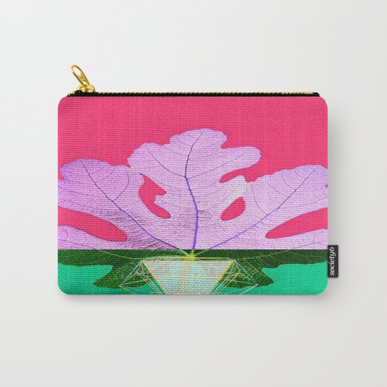 Fig Leaf Diamond Christmas Half and Half Carry-All Pouch