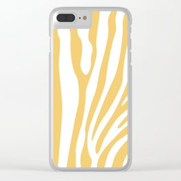 Ochre Zebra Print Clear iPhone Case