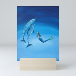 Mermaid & Dolphin - No. 3 Mini Art Print