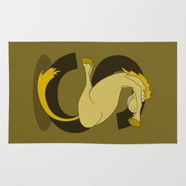 Monogram S Pony Rug