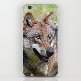 AnimalPaint_Wolf_20171201_by_JAMColors iPhone Skin