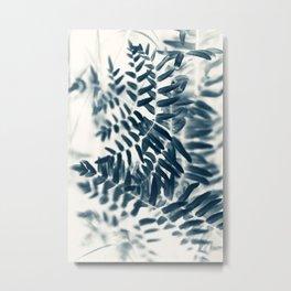 Royal Fern In Blue #2 Metal Print