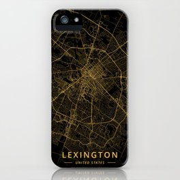 Lexington, United States - Gold iPhone Case