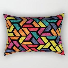 Seamless Colorful Geometric Pattern XI Rectangular Pillow