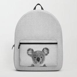 Baby Koala - Black & White Backpack