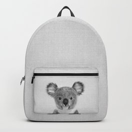 Baby Koala - Black & White Backpack