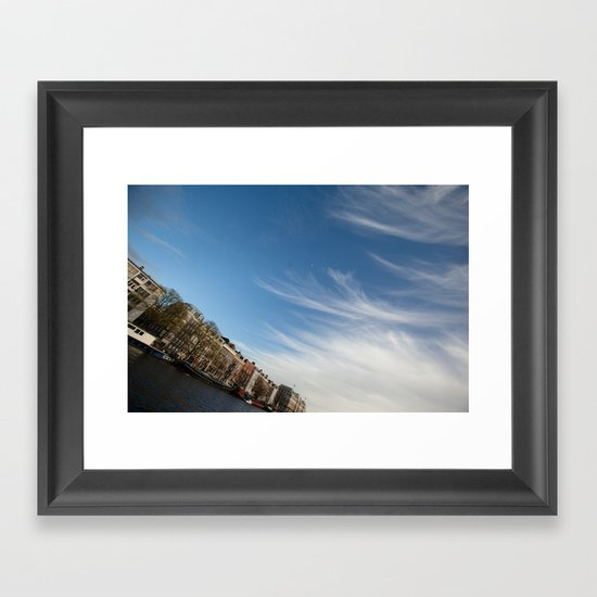 Feathery Clouds Framed Art Print