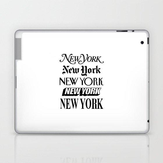I Heart New York City Black and White New York Poster I Love NYC Design black-white home wall decor Laptop & iPad Skin