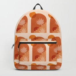 Abstraction_SUN_STAIR_PLANTS_POP_ART_Minimalism_096A Backpack