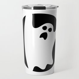ghosty black Travel Mug