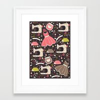 sewing Framed Art Prints featuring Vintage Sewing by Poppy & Red