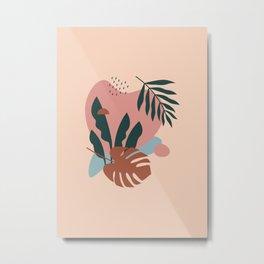 Shapes & Plant - Modern Abstract Art 02 Metal Print