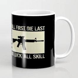 M4 Assault Rifle & Tactical Flag Coffee Mug