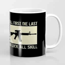 M4 Assault Rifle & Tactical Flag Coffee Mug