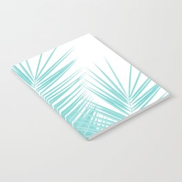 Soft Turquoise Palm Leaves Dream - Cali Summer Vibes #1 #tropical #decor #art #society6 Notebook