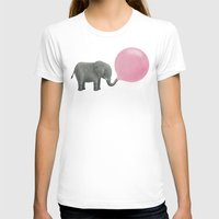 pink floyd T-shirts featuring Jumbo Bubble Gum  by Terry Fan