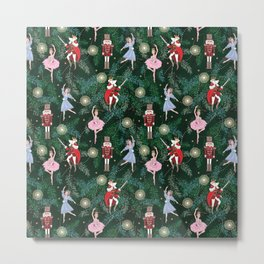 The Nutcracker Christmas Tree Ornaments Metal Print