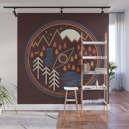 Call of the wild / Geometric nature / Camping / The great outdoors / Deer / woods Wall Mural