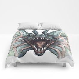 Dilophosaurus Watercolor Comforters