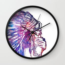 Space Indian Wall Clock